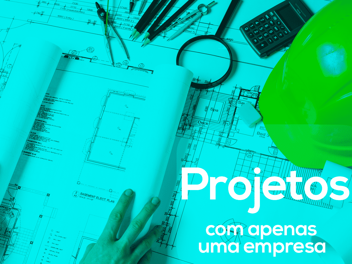 Projetos com apenas uma empresa